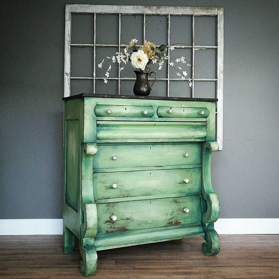 Extra Large antique empire style dresser chest of drawers