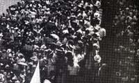 El Sinaia en el puerto de Veracruz, 13 de junio de 1939. Imagen tomada del libro: Verónica Rivera Suárez y Raúl Godínez, México a través de los Mayo. Paco y Faustino Mayo, México, Segob, AGN, Conaculta-Fonca, 2002, p. 49.  En 1939 arriba a Veracruz el buque Sinaia con mil 599 españoles a bordo. Primer grupo de refugiados que acogidos por el gobierno mexicano, huían de la represión franquista al de la Guerra Civil Española (1936-1939).