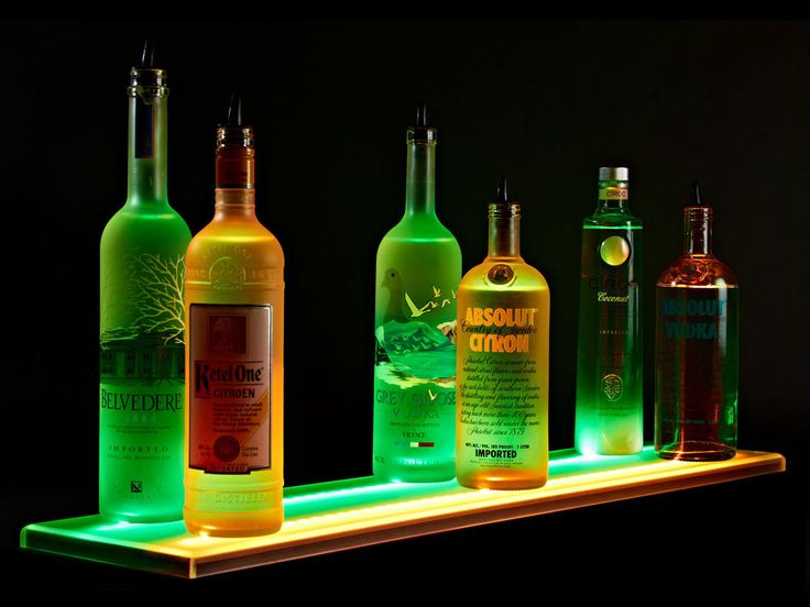 Armana Acrylic 2 ft LED Lighted Liquor Shelves Bottle Display 24
