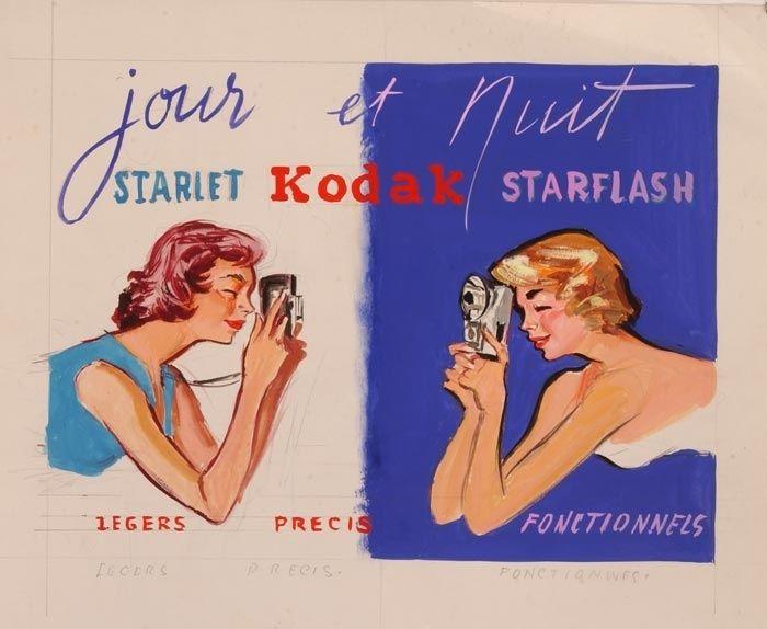 Kodak illustration by Pierre Laurent Brenot Paris, 8 July 1913 - 8 May 1998