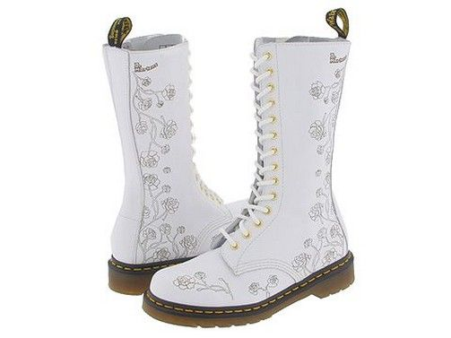 How AWESOME are these! Doc Marten wedding boots. Kudos to the bride who dons these under her gown!