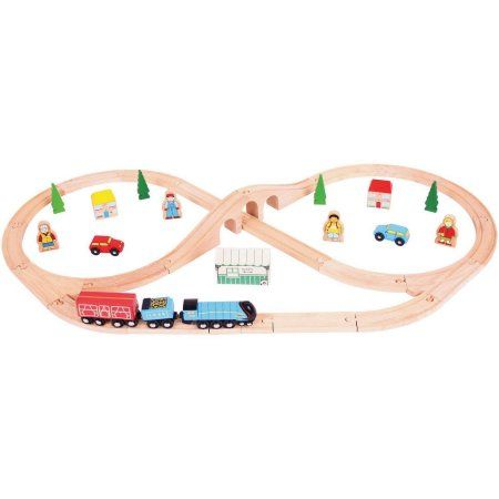 BigJigs Rail Heritage Collection BJT027 Mallard Train Set, Multicolor