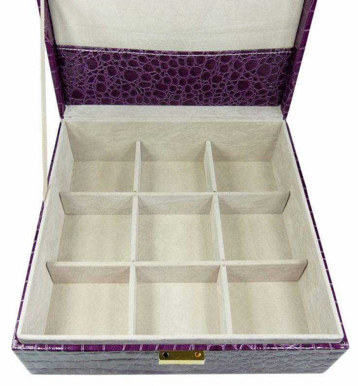 Šperkovnice čtverec střední fialová 5778-3   Bižuterie Kozák