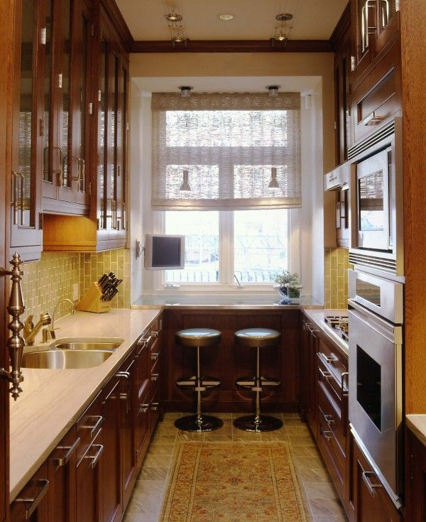 34 best images about galley kitchen on pinterest galley for Long galley kitchen designs