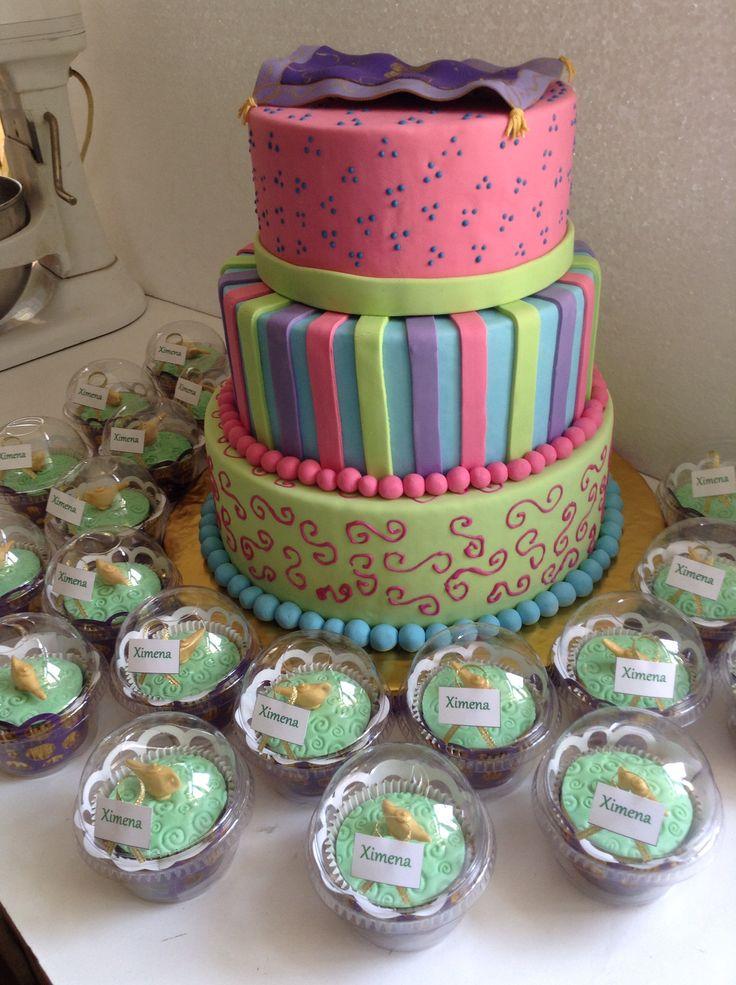 Aladdin cake and cupcakes #aladino torta y cupcakes #jazmin #magiccarpet #alfombra magica