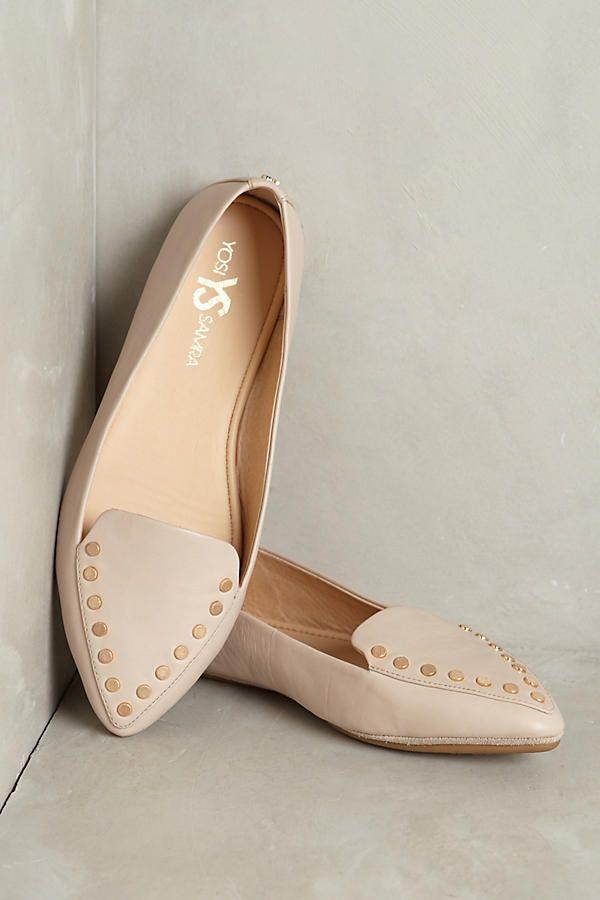 Slide View: 1: Yosi Samra Vera Studded Loafers