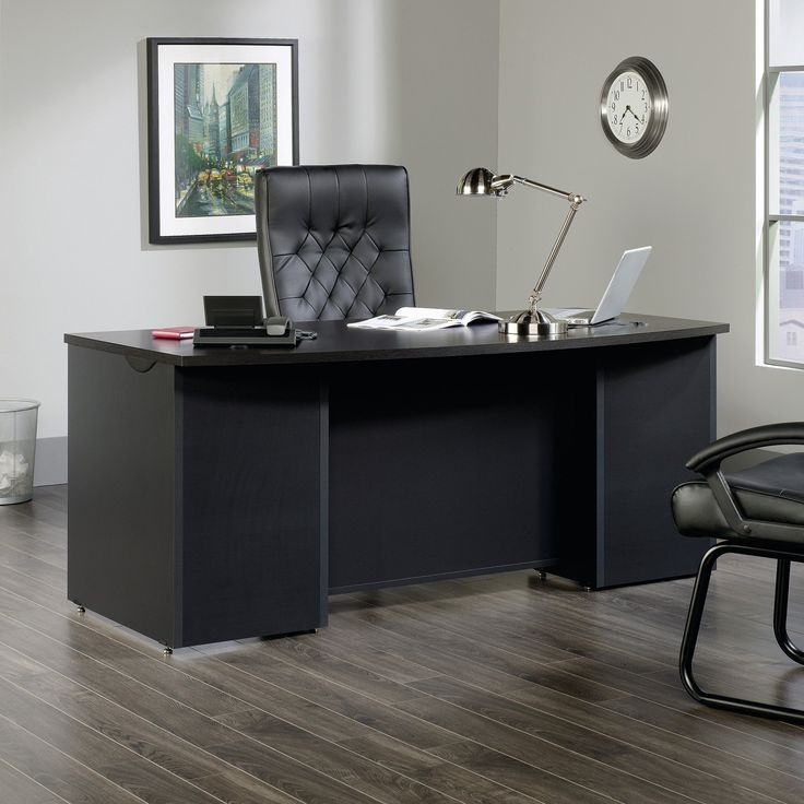 sauder via 72w x 35d executive desk with optional pencil drawer from