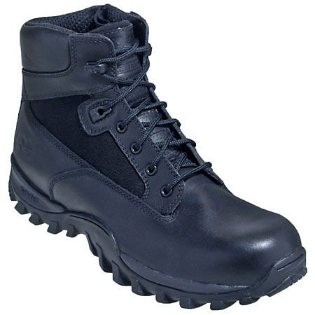 "Timberland Pro Boots 87526 Black 6"" Zip Up McClellan Boots"