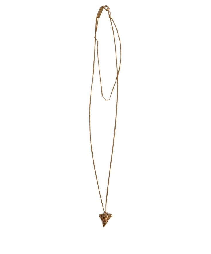 Givenchy Mini Shark tooth necklace with crystals