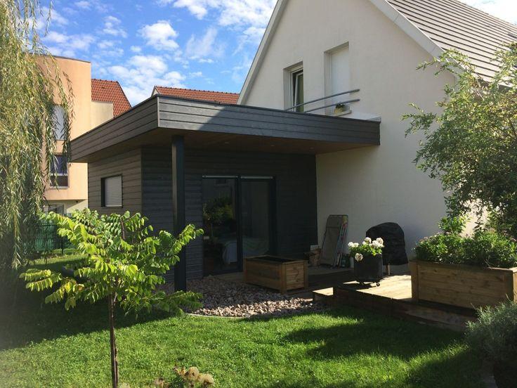 extension ossature bois toit plat dans le haut rhin avec. Black Bedroom Furniture Sets. Home Design Ideas