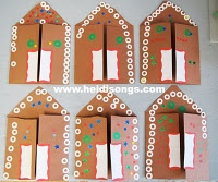 gingerbread cards - WE ARE MAKING THIS FOR THE PARENTS/GRANDPARENTS FOR THE KIDS..........THEY WILL HAVE A BLAST WITH THESE.