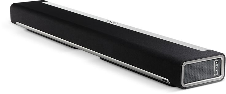 Sonos' sound bar for TV is part of a wireless HiFi system, modular and expandable.