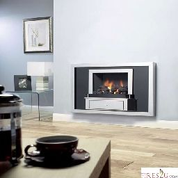 The Flavel Vesta gas fire has been specifically designed to fit a standard Pre-Cast flue. Therefore the Vesta slimline hole-in-the-wall gas fire is highly contemporary with its reflective black and stainless steel fascia.