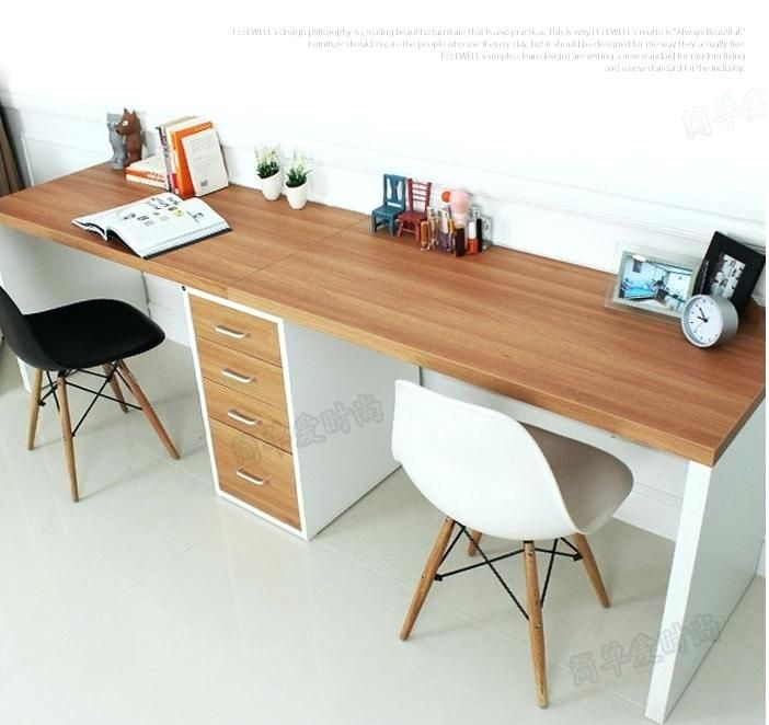 Ikea Desk Top Chic Double Long Table Desk Computer Desk Home Desktop Computer Desk Within Long Home Office Design Desks For Small Spaces Home Office Furniture