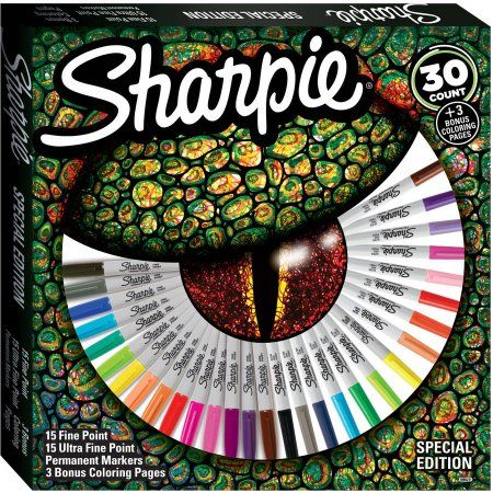 Sharpie Permanent Markers, Special Edition, Assorted, 30 Count plus Bonus Coloring Pages - Walmart.com