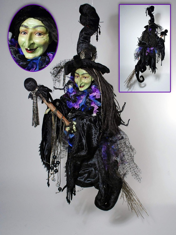 Heluga Witch Doll on Broom