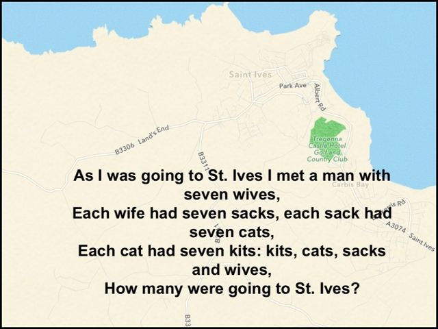 Declutterbug versus Captain Stingypants: Ten nursery rhymes and songs of childhood with a google maps tour of their real locations