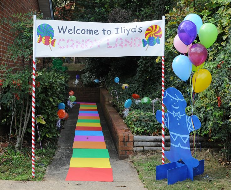 Candy Land Birthday Party Entrance What A Fantastic Way To Welcome Guests Give Them Glimpse Of Whats In Store Kids Outdoor