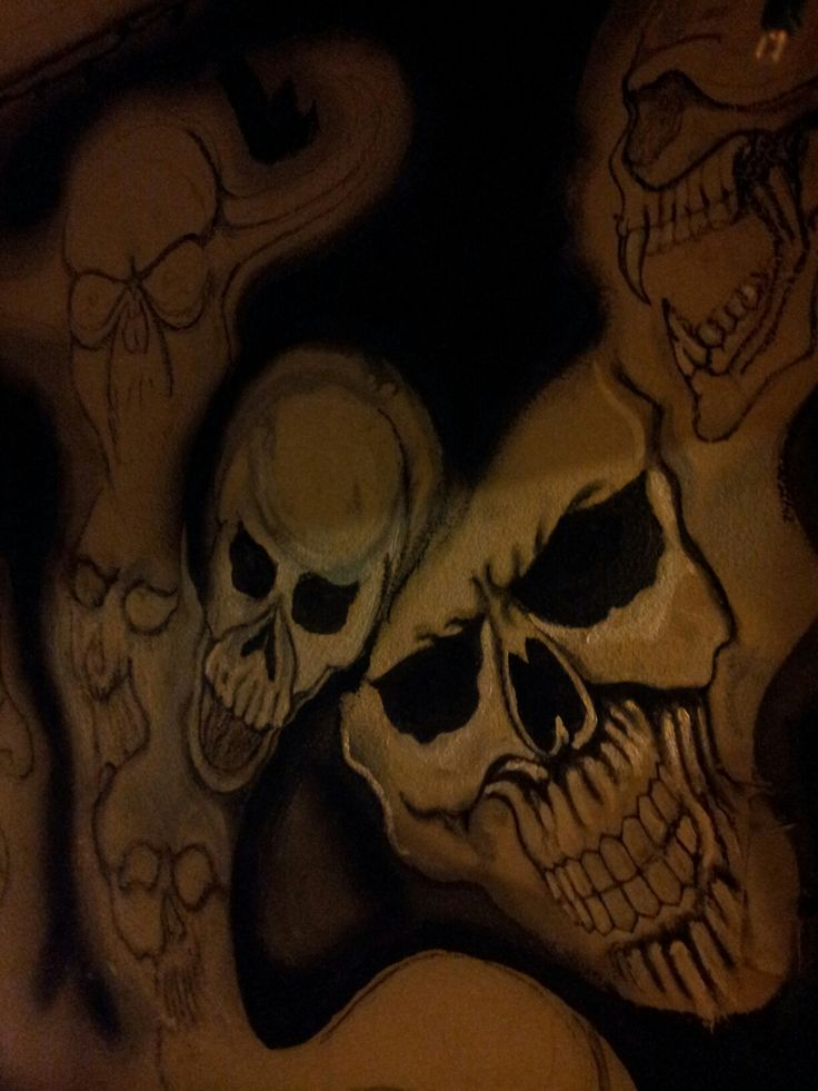 Painted on bedroom wall argyle. Tx