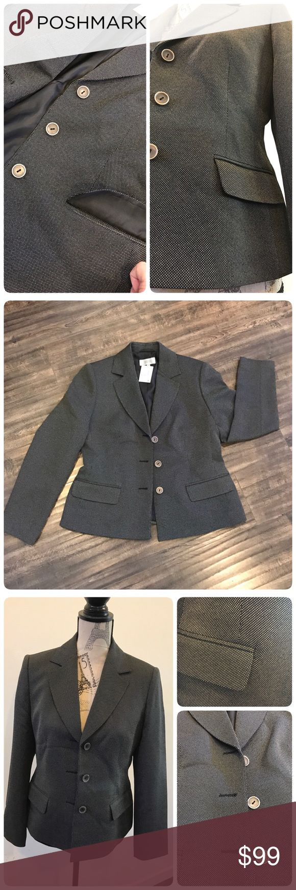 🆕Blazer size: 12 petite Blazer size 12 petite, color: black mix. New with tag. 100% polyester with lining. Marks & Spencer Jackets & Coats Blazers