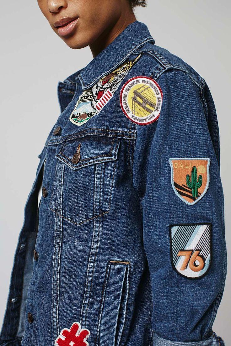 MOTO Badge Oversized Jacket