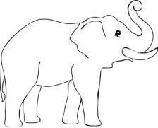 elefant ausmalbild 06