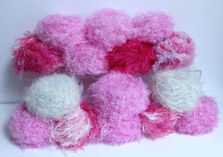 Red Heart Yarn Treasure Bernat Baby Yarn Pink Bubbles Bright Pink Boa Yarn Sparkling White Infused Yarn Vintage Yarn Destash Bundle of Yarn by HeyJudeCollection on Etsy