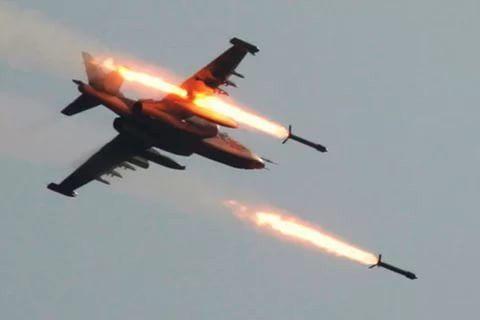 (Гл 9) Самолеты ВКС РФ в Сирии наносят удары по позициям боевиков