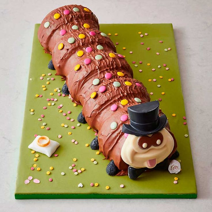 Colin the Caterpillar has got some big news - he's getting married! Brides-to-be if you're stuck for wedding cake ideas why not consider Colin and Connie?