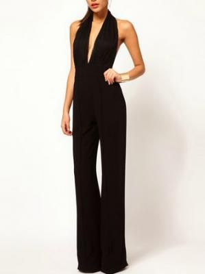 Sexy Low Cut Backless chifon Jumpsuit In Black http://www.choies.com/product/sexy-low-cut-backless- jumpsuit-in-black?cid=5365jessica
