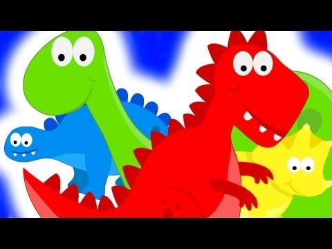 ▶ Dinosaur Colors - Learning Color Dinosaurs for Kids - YouTube