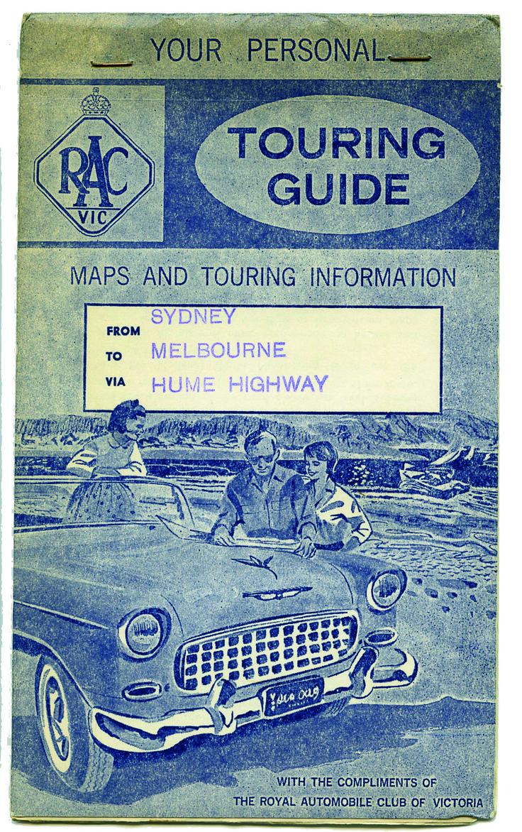 RoyalAuto, May 2016. Rediscover the Old Hume Highway #HumeHighway #Map #VintageMap #RACVMap #RoadMap #TouringGuide #RACVTouringGuide #1956