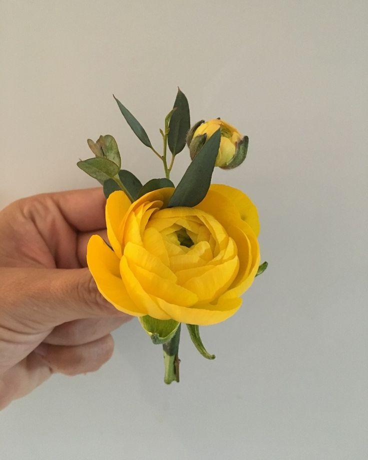 CBB251 wedding Riviera Maya yellow/ amarillo boutonnière