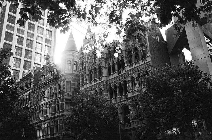 Collins St, Melbourne in the morning light