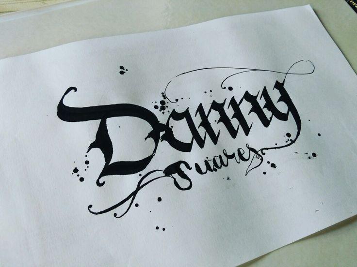 Danny Suárez  #handletterin #handwriting #handmade #lettering #letters #marker #sharpie #lovecalligraphy #calligraphy #doodle #art #design #ink #handstyle #calligraffiti #handtype #escritura #typographyinspired #pencil #sketch #paper #tagname #tattoo #tattodesign #blackletter #calligraphymasters #typography #inktechnique