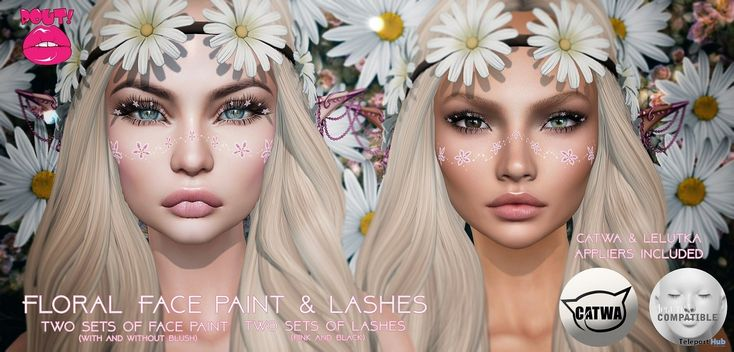 Floral Face Paint & Lashes March 2018 Group Gift by POUT!