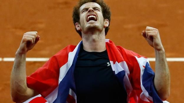11/29/15 GBR 3: BEL 1 - Great Britain won the Davis Cup for the first time since 1936 after Andy Murray beat Belgium's David Goffin to clinch the decisive point in Ghent.  Murray won 6-3 7-5 6-3 to give the visitors an unassailable 3-1 lead in the best-of-five tie.  Britain have now won the team title 10 times, while Murray adds the Davis Cup to his other major titles at Wimbledon, the US Open and the Olympic Games.  Captain Leon Smith guided Britain from the third tier to glory in five…