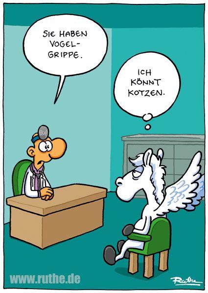 "Cartoon Ruthe ""Grippe"""