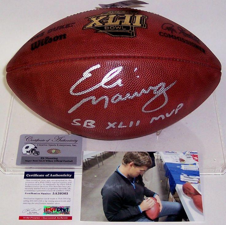 Eli Manning Autographed Hand Signed Super Bowl XLII Official NFL Football - PSA/DNA