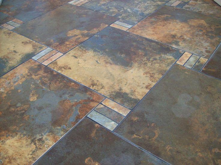 Slate tile patterns decorative strip texture 39 s for Slate floor patterns
