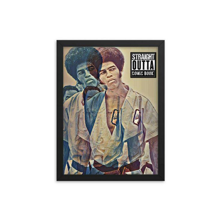 Jim kelly poster frame pop art posters framed art