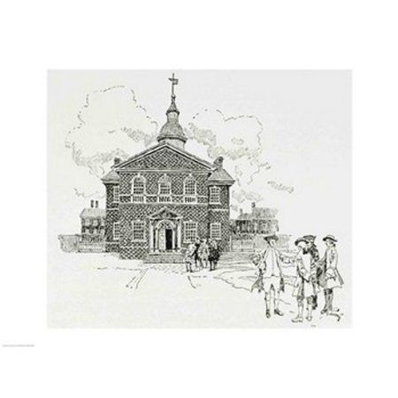 Carpenters Hall Philadelphia where the First and Second Continental Congresses held their sessions Canvas Art - Howard Pyle (24 x 18)