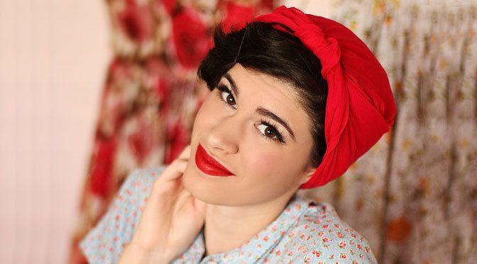 Хотите научиться повязывать на голову платок как рокабили-гёлз из 50-х годов? / How to tie a scarf in the style of the 50s