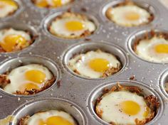 Baked Eggs in Hash Brown Cups Recipe : Ree Drummond : Food Network - FoodNetwork.com