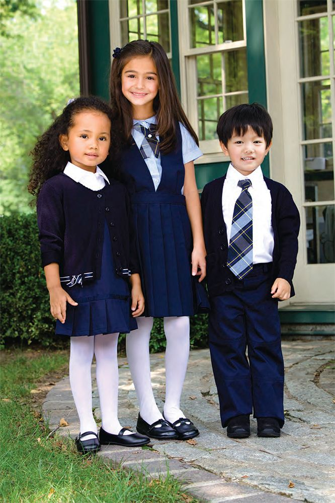 Image result for kids with and without catholic uniform