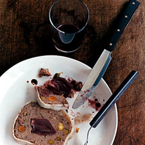 Duck Terrine (aka pats) with Wine-Glazed Shallots | Gourmet Dec 2005 on epicurious