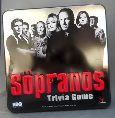 The Sopranos Trivia Game 2004 Board Game Cardinal Ind HBO TV Series Unseal | eBay