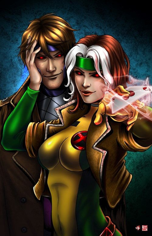 Hey, I found this really awesome Etsy listing at https://www.etsy.com/listing/163225961/11x17-rogue-and-gambit