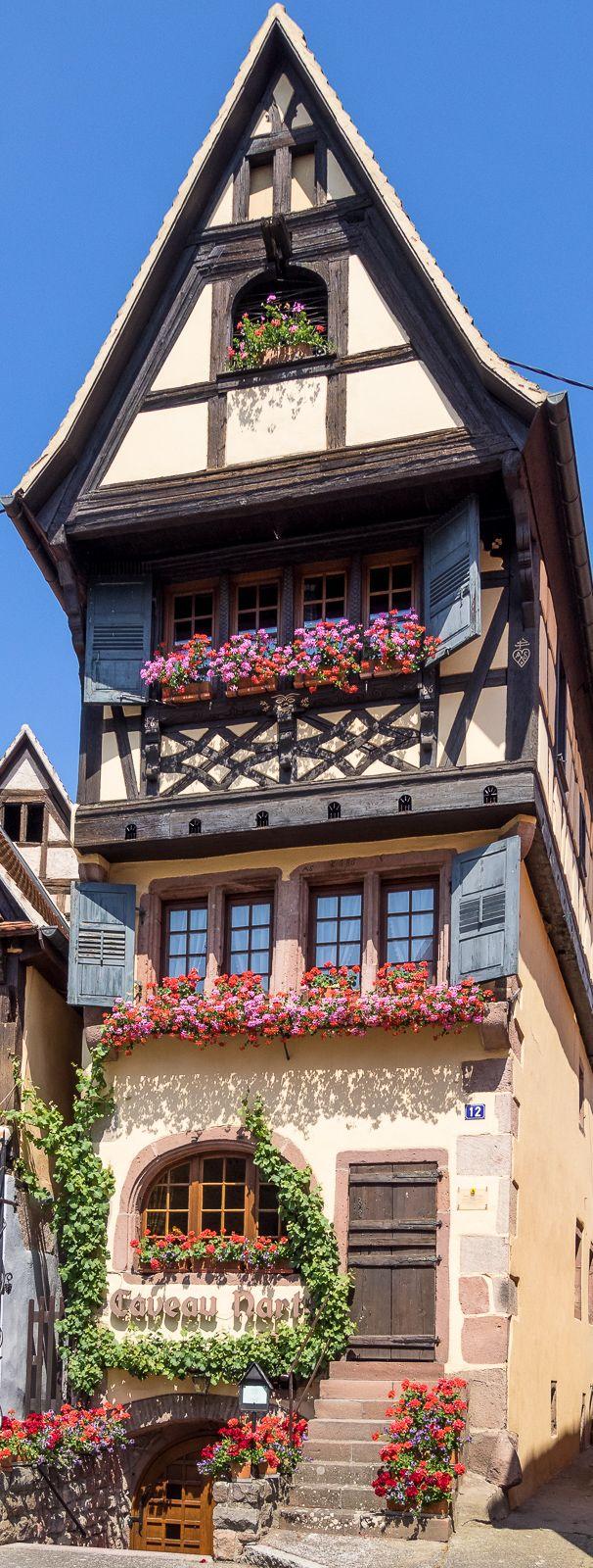 Caveau Nartz restaurant in Dambach-la-Ville, Alsace, France