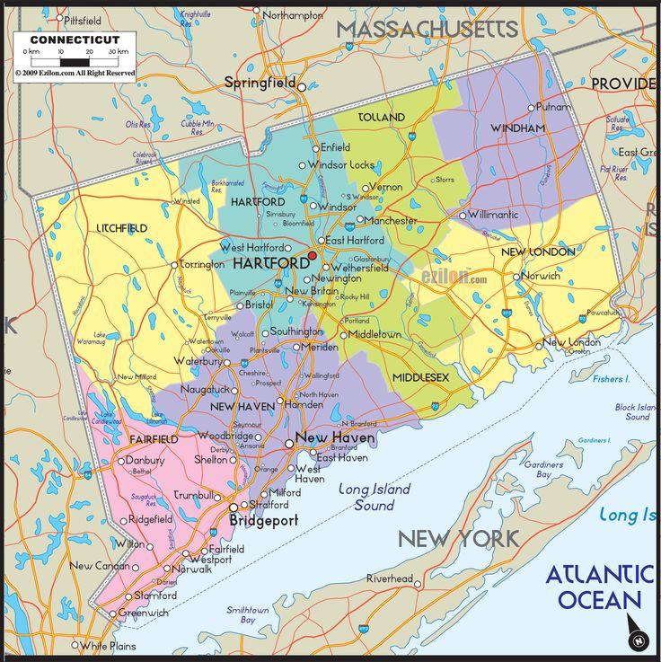 25 best Connecticut images on Pinterest Connecticut Location map